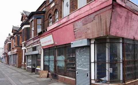 An abandoned shop